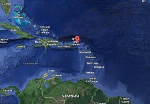 Necker Island Map