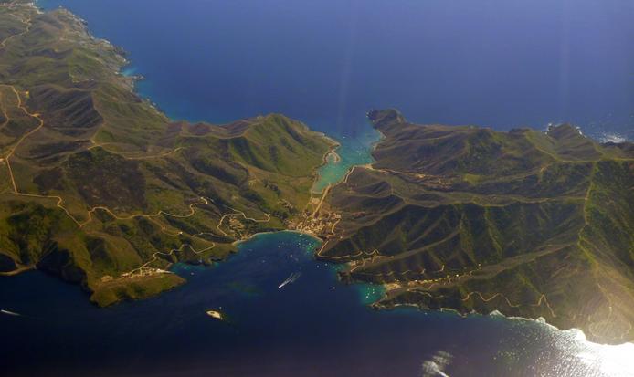 Catalina Island panoramic view