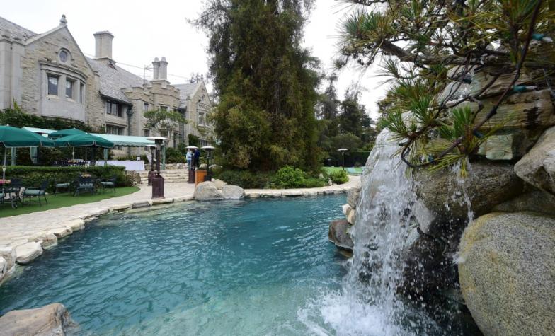 Playboy Mansion pool