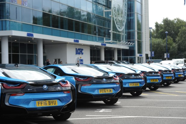 Leicester players BMW i8 gift