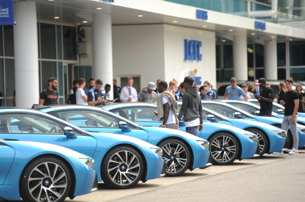 Leicester players  given BMW i8
