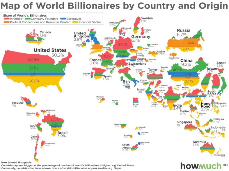 map-of-billionaires-by-country