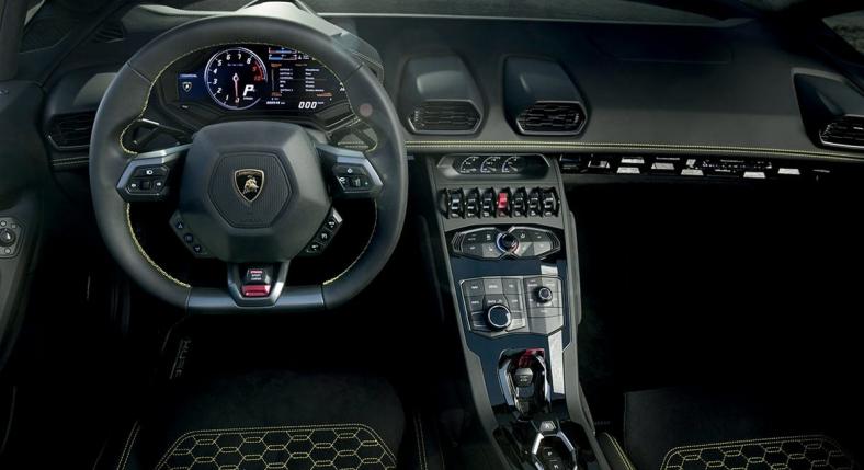 Lamborghini RWD Huracán Spyder interior